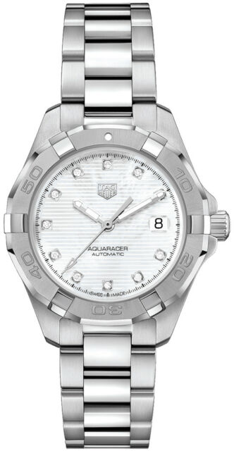 Tag Heuer Aquaracer Calibre 9 White Women S Automatic Watch Lady Wbd2313 Ba0740