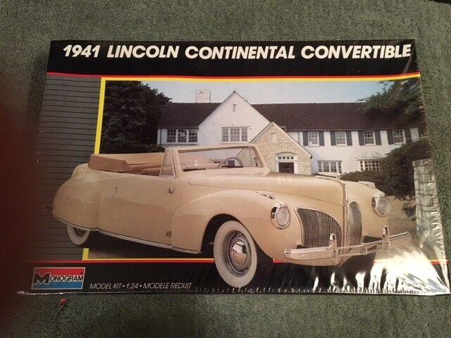 Lincoln continental cabrio monogram 2312 1941 1   24 modell kit fs