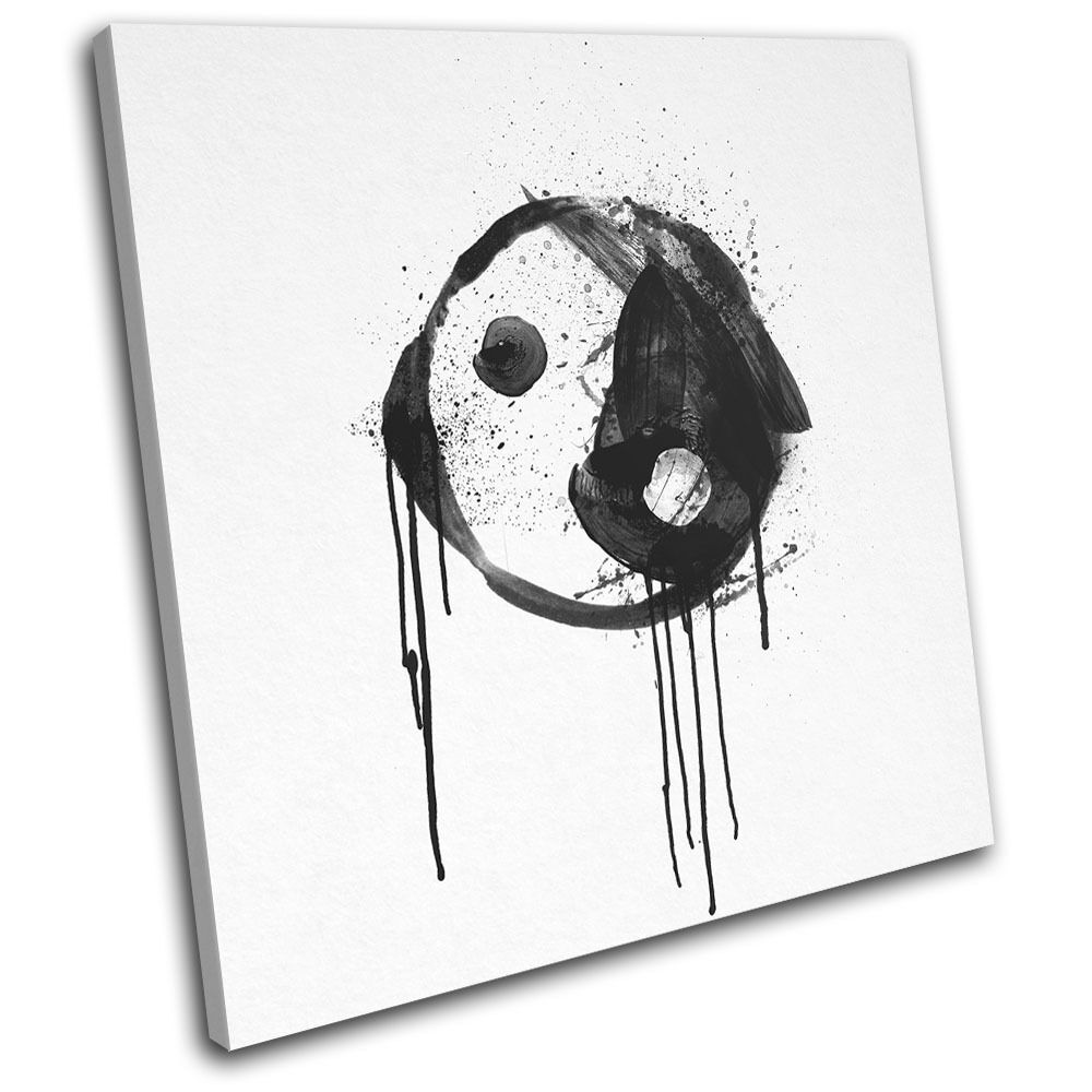Peace Ying Yang Yang Yang Abstract Illustration SINGLE TELA parete arte foto stampa 24fa87