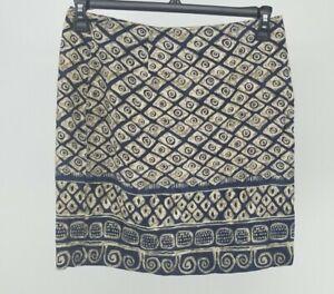 ABRIA-Wrap-Style-Skirt-Vintage-Women-039-s-Size-14-Navy