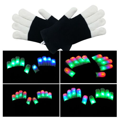 LED Handschuhe Bunte Licht Handschuhe Leuchtende Handschuhe Party Tanzen Rave