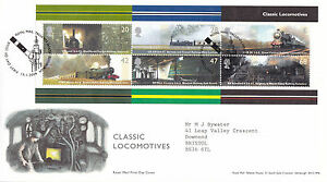13-JANUARY-2004-CLASSIC-LOCOMOTIVES-M-SHEET-ROYAL-MAIL-FIRST-DAY-COVER-BUREAU-S
