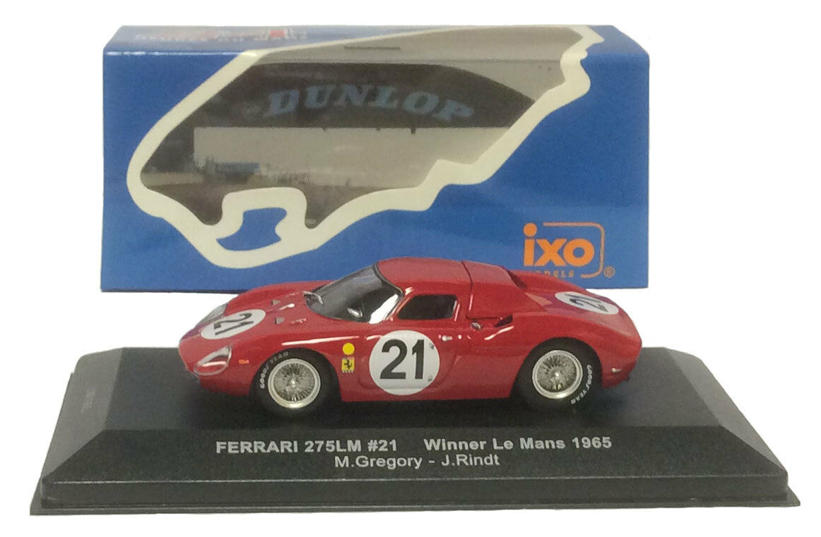 IXO LM1965 Ferrari 275LM Winner Le Mans 1965 - Gregory Rindt 1 43 Scale