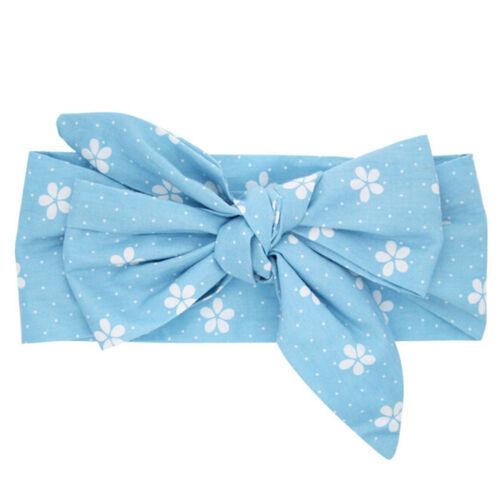 Newborn Infants Girl Baby Bow Headband Hair Band Headwear Head Wrap Accessories