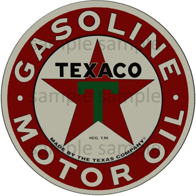 "Texaco Gas Oil Original Factory Dealer Window Sticker 3-1//2/"" x 3/"""