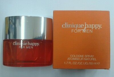 CLINIQUE HAPPY FOR MEN EAU DE COLOGNE 50ML. NATURAL SPRAY | eBay