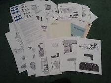 May 1984 SAAB 9000 TURBO 16 UK PRESS RELEASE + TECHNICAL DRAWING SHEETS Brochure