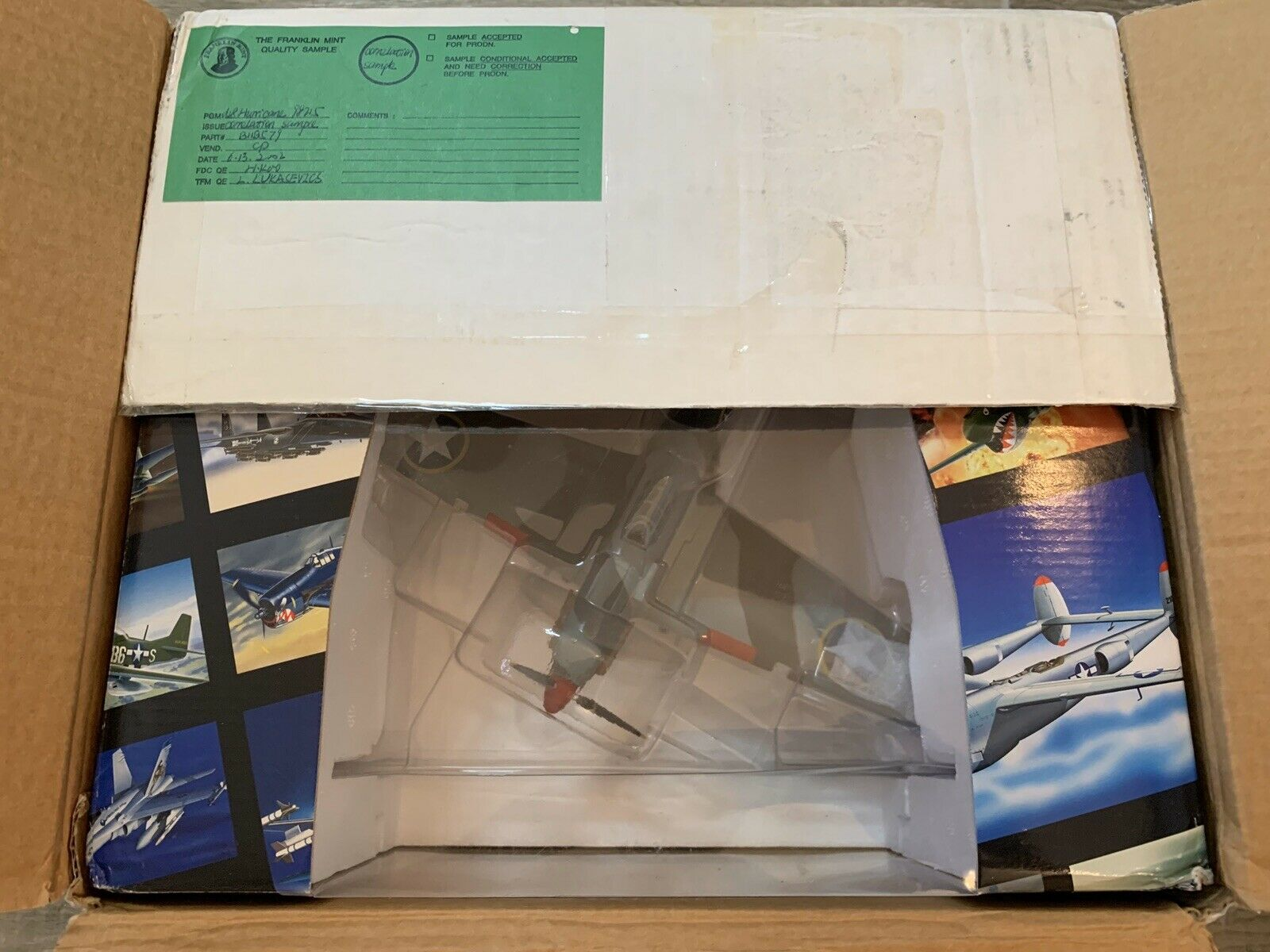 Franklin Mint WWII 'Hurricane Operation Torch' Rare Sample