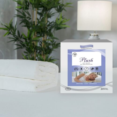 Protect a Bed Plush Soft Velour Mattress Protector Various Sizes