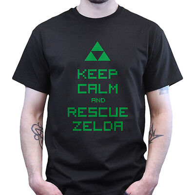 Keep Calm and Rescue Zelda Gaming Hyrule Warrior T-shirt