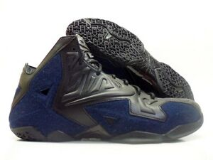 promo code 2105d 1d3a4 Image is loading NIKE-LEBRON-XI-EXT-DENIM-QS-BASKETBALL-BLACK-
