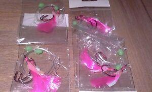 4-X-SNAPPER-FLASHER-2-HOOK-FISHING-RIGS-60lb-MONO-4-0-QUALITY-HOOKS-amp-LUMO