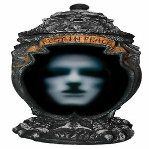 Talking Haunted Asche Urne Animierte Halloween Deko Animiert Prop Ebay