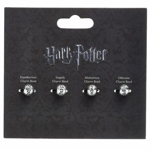 Licencia Oficial Harry Potter Plata Plateado hechizo Silder encanto grano Set