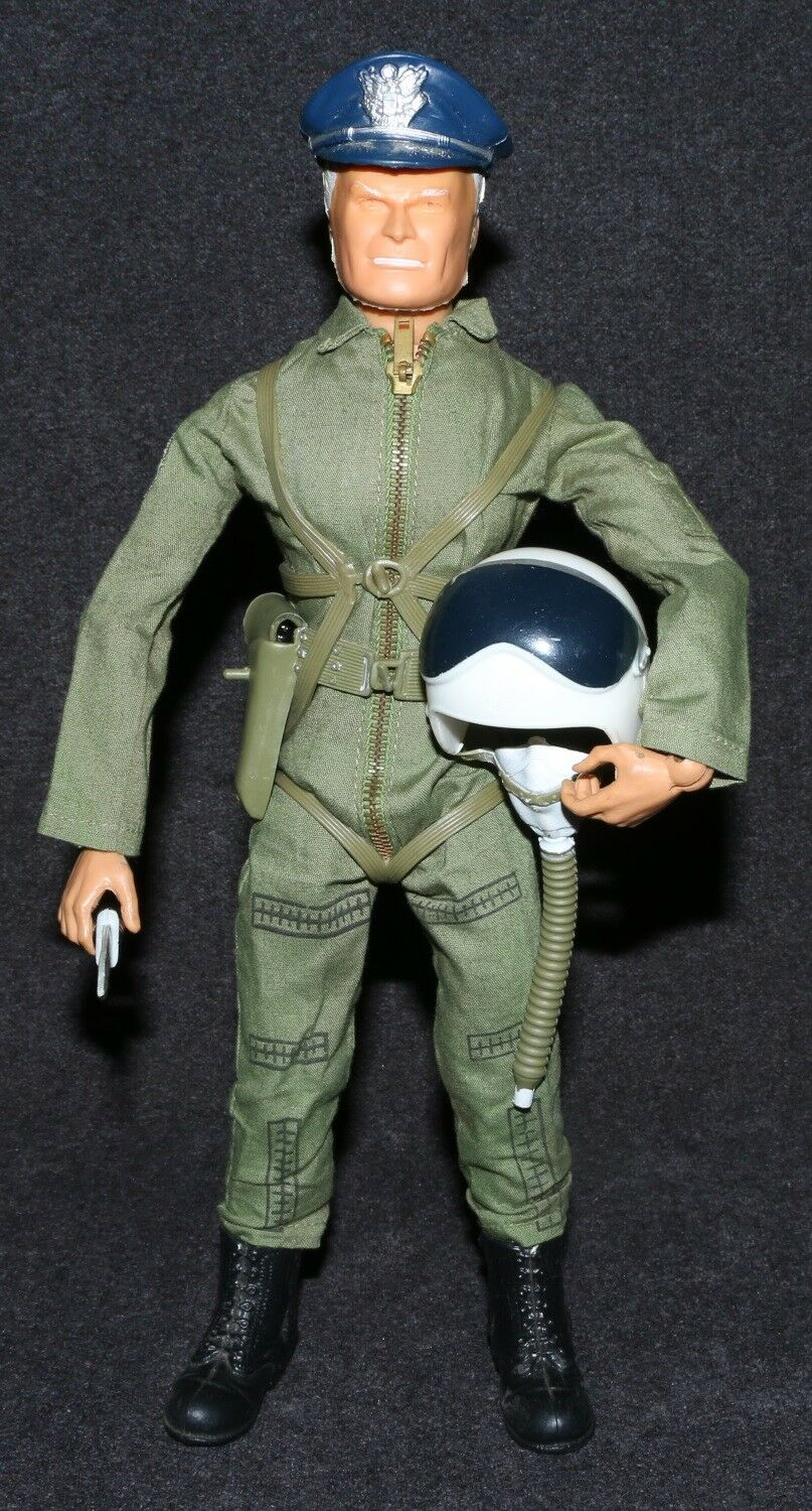 Captain Action Ideal 1967 Set Steve Canyon Fighter Pilot Olive Drab Complete