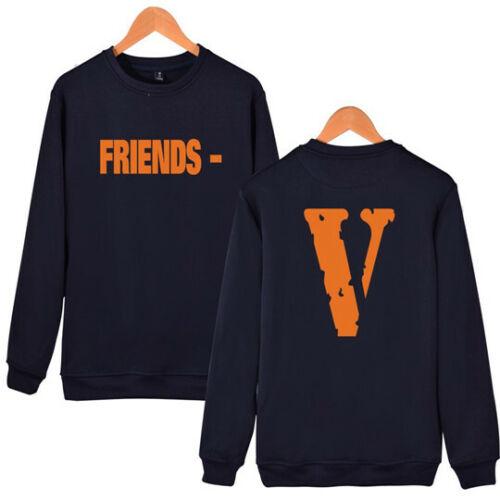 Herren Vlone Friends Freunde Big V Hoodie Sweatshirt Kapuzenpullover Sweats