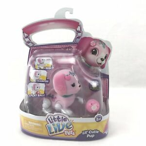 Little-Live-Pets-Lil-Cutie-Pup-Pawberry-Figure-With-Ball-New-In-Pack-Christmas