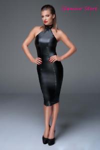 Sexy Abito Vestito black Versatile Power Wetlook Zip Laterale S,M,L,XL,2XL,3XL