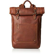 Timberland Mens Walnut Hill Leather Roll Top Backpack, Dark Brown Sale