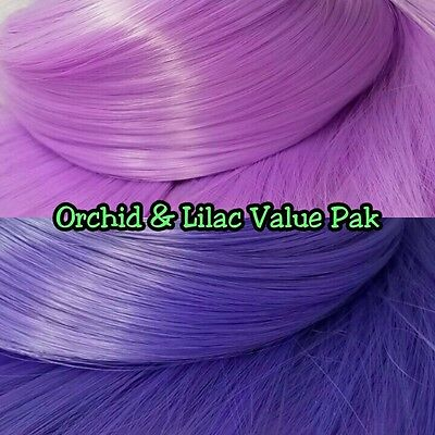 Orchid Purple /& Black XL 2 Color Valu Pak Nylon Doll Hair Reroot Ever After High