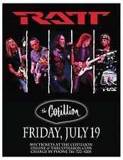 RATT 2013 WICHITA CONCERT TOUR POSTER - Heavy/Glam Metal, Hard Rock Music