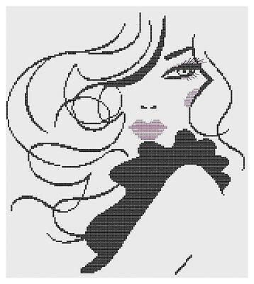 Glamour Girl Cross Stitch Kit by Florashell