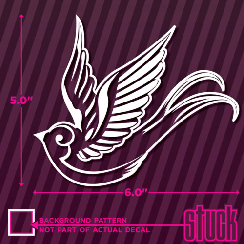 "Sparrow Vintage Bird Tattoo Style Design LEFT 6/"" x 5/"" vinyl decal sticker"