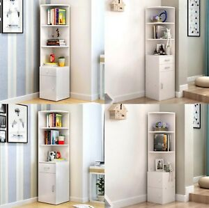 Image Is Loading Bookshelf Storage Unit Corner Shelf Bookcase Shelving Display