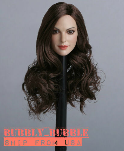 """1//6 Female Head Sculpt Anne Hathaway GC012A For 12/"""" PHICEN Hot Toys Figure USA"""