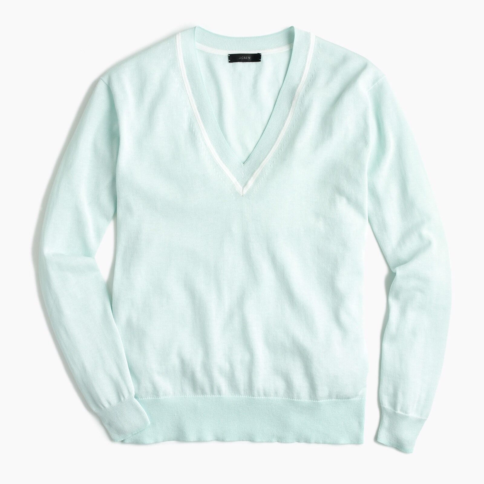 JCrew V-neck sweater in summerweight cotton G1293 Größe L  65