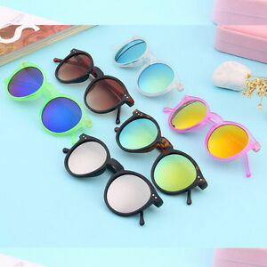 4062f7f8fe97 Image is loading Unisex-Women-Men-Mirror-lens-Round-Glasses-Steampunk-