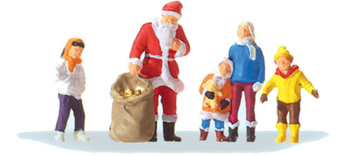Preiser 29098  Father Christmas with children HO 1:87