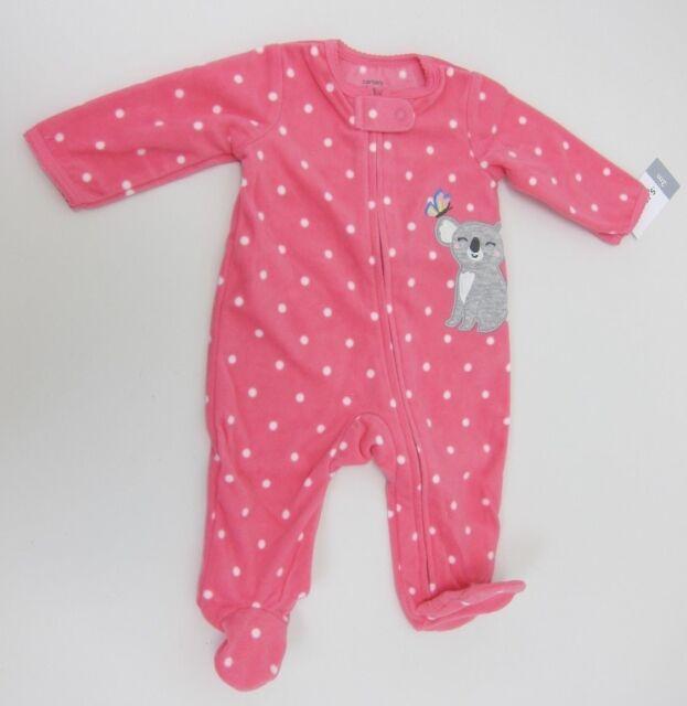 844ed12c041a Carter s Baby Girls  Fleece Zip up Koala Sleep   Play 3 Months