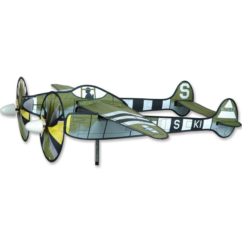 P-38 Lightning Airplane Replica Staked Wind Spinner With Pole 33...... PR 26316