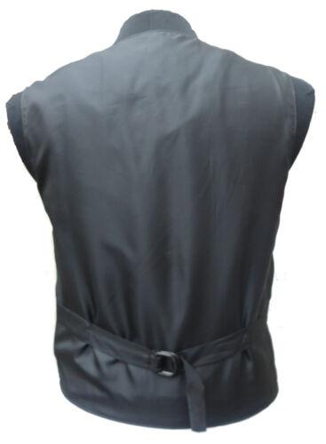 cerimonia Gilet uomo pelle nera formale in da elegante f5qBx5aHp