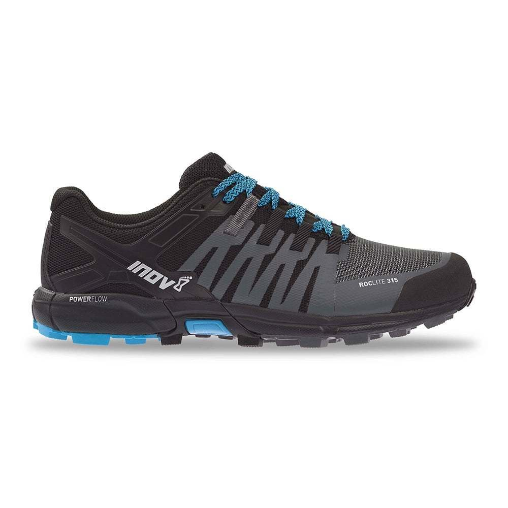 Inov 8 Roclite 315 Para hombres Calce estándar Trail Running Zapatos gris Negro Azul