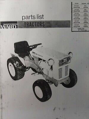 Montgomery Ward Gilson 12 14 hp Garden Tractor Parts Manual GIL-33029B  33047A   eBayeBay