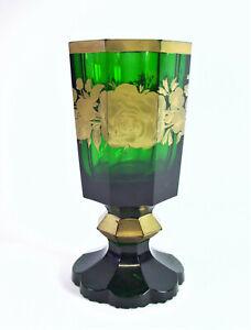 schoenes-Biedermeier-Glas-Pokalglas-mit-Golddekor