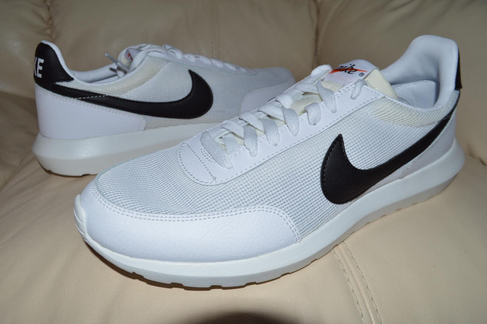 39706da2283d65 New Nike Mens Roshe Daybreak NM Run Running Shoes 826666-100 sz 12 White  Black