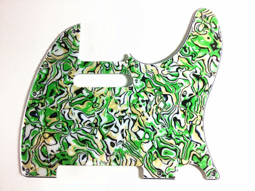 4PLY TELE TELECASTER PICKGUARD FOR FENDER GUITAR WITH PEARL GREEN