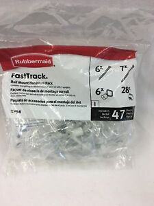 Rubbermaid-Fast-Track-Closet-White-Hardware-Pack-3P56-034-NIB-034