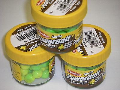 Berkley Powerbait Magnum Power Egg 3 pack WHITE FEFW Trout Fishing Bait