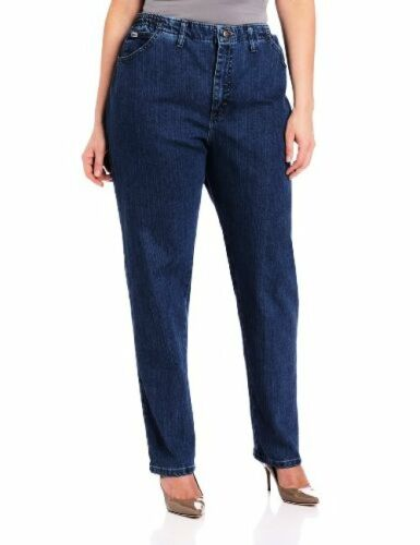 Lee 3086144 Womens Plus-SZ Relaxed Fit Side Elastic Tapered Leg Jean