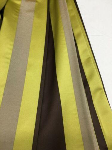 Tela De Cortina con patrón a rayas de chocolate//material Lima Belfield-Zurich