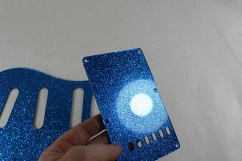 Blue Glitter SSS pickguard trem cover set Fits Fender Strat Stratocaster