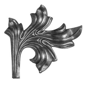 Zaunornament Zierrosette aus Metall für Zaunbau 256 200x210x2,5 mm