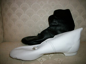 Capezio Jazz Boot Suede Sole Dance Black White NIB CG04 52931004053 ... ae2dc610d18