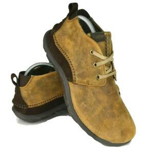 cushe mens size 8 brown slipper chukka boots walking