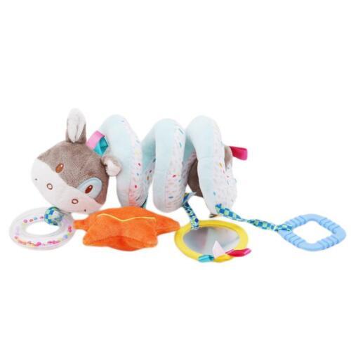 Bed Stroller Toy Baby Newborn Car Hanging Bell Rattle Spiral Soft Infant Toy LA