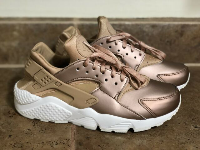 493fd9ffb5c6 NIKE WOMEN S AIR HUARACHE RUN PREMIUM SZ 6 AA0523-200 Metallic ROSE GOLD
